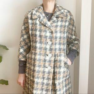Vtg Tan Cream Wool Jacket Coat Gordon Montreal 8